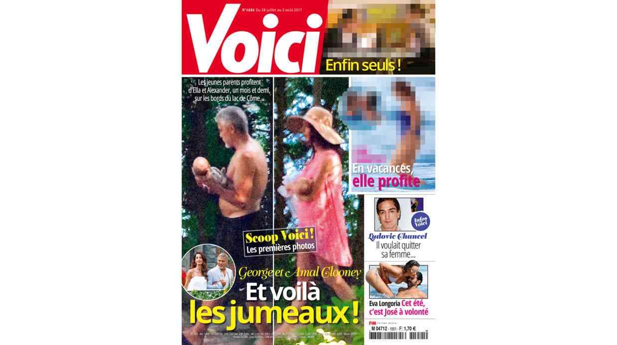 ジョージ・クルーニー、双子の写真掲載した仏誌を提訴の構え