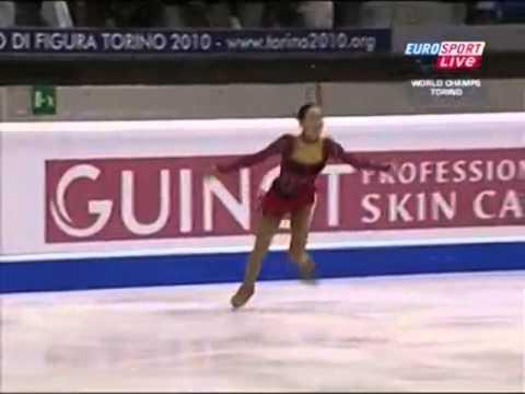 浅田真央 2010 世界選手権 SP British Euro Sport解説(日本語字幕付) - YouTube