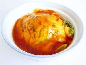 フライパン1つで 長ねぎと卵の甘酢あんかけ天津丼 レシピ・作り方 by liqueur|楽天レシピ