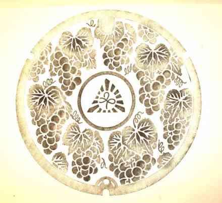 マンホールふたと伝統技術の融合 マンホール拓本 | アート | マンホールふた総合サイト「Hirake! Manhole(ひらけ!マンホール)」