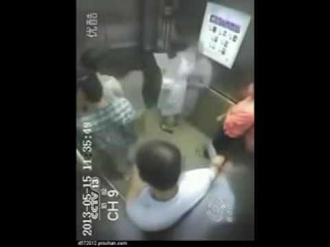中国エレベーター切断事故 - YouTube