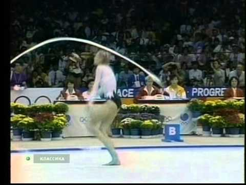 Marina Lobach  ribbon  Olympic Games 1988  RG - YouTube
