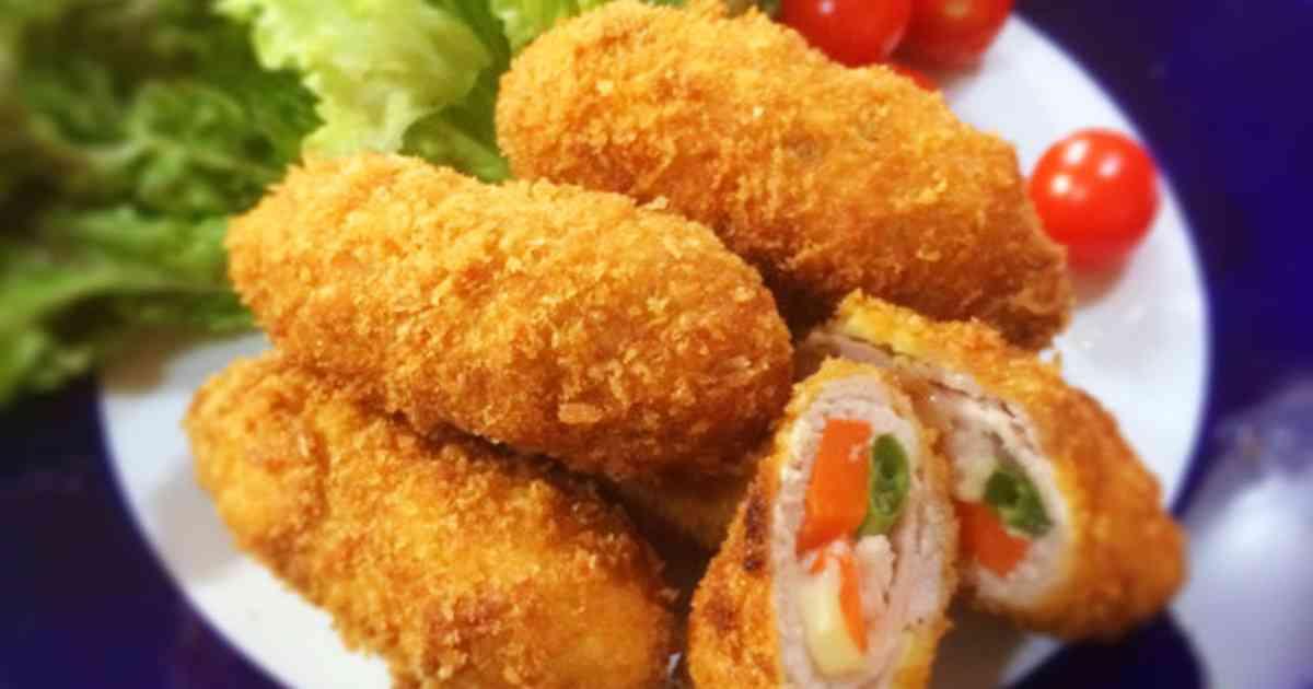 野菜とチーズと豚の肉巻きフライ*お弁当に by **そらいろ** [クックパッド] 簡単おいしいみんなのレシピが271万品