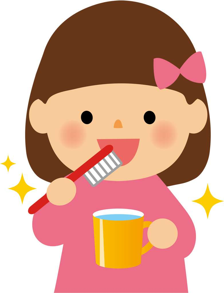 給食の後、歯磨きしていましたか?