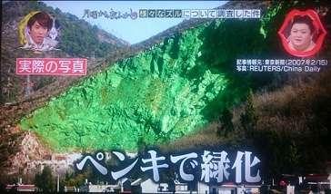 中国の緑化事業に100億円のペンキ代www:トラネコ日記
