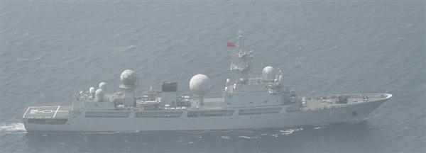 中国海軍の情報収集艦が津軽海峡で領海侵入 政府は懸念を表明 - 産経ニュース