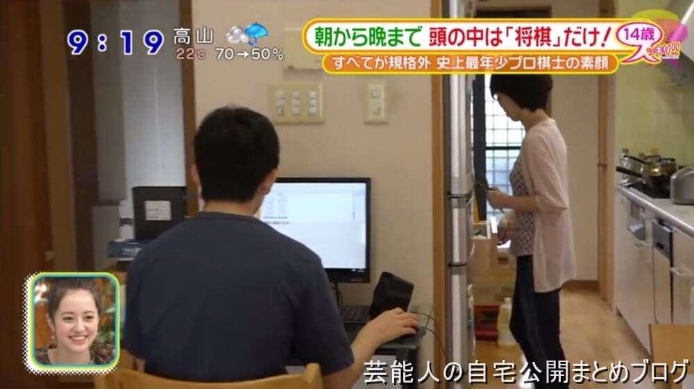 【将棋棋士の自宅】藤井聡太さんの自宅リビング【画像あり】