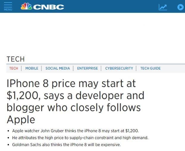 「iPhone8」の価格は2倍の13万5000円?! 米メディアの報道に「これ誰が買うの?」 : J-CASTニュース