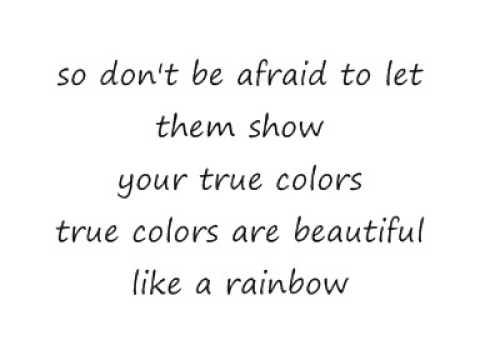 Cyndi Lauper True Colours Lyrics - YouTube