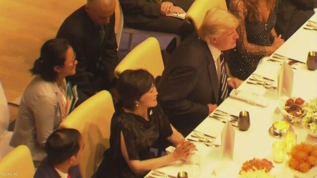 「安倍首相夫人は英語話さない」 トランプ大統領発言に波紋   NHKニュース