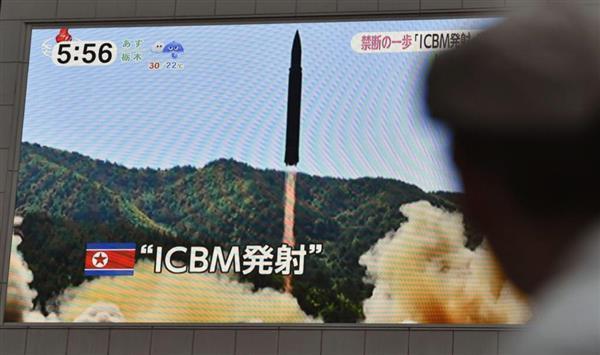 【北ミサイル】韓国、北のICBM認定に反対 日米韓声明、中露名指しにも難色  - 産経ニュース