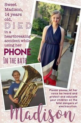 14歳少女、風呂で携帯電話を使おうとし感電死 手には火傷の跡が