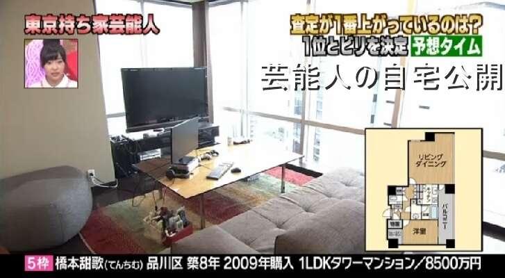 【芸能人の自宅】てんちむこと橋本甜歌さんのハイクラス自宅と査定【画像あり】
