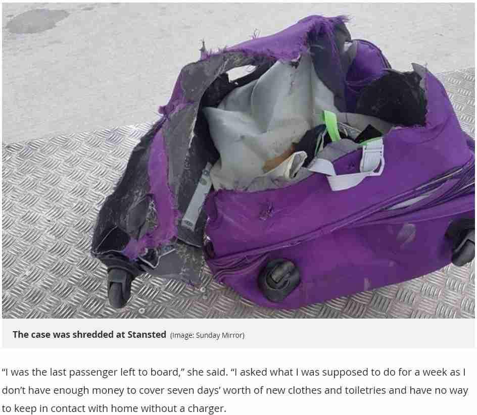 空港で預けたスーツケースが無残に 18歳女性「ホリデーが台無し」と激怒(英)