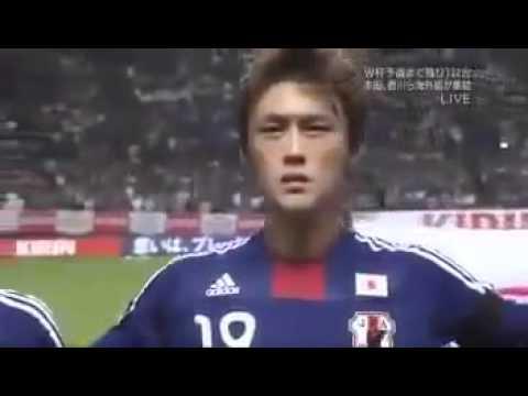 キリンチャレンジカップ2011 日本対韓国 太志の君が代 - YouTube