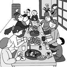 親戚の集りでの会話