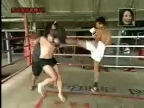 Funny Japanese Learns Muay Thai Kickboxing [Super Funny Prank] - YouTube
