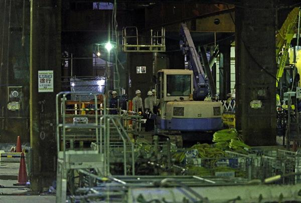 作業員3人が約25メートル転落…東京・丸の内のビル工事現場、2人は意識なし
