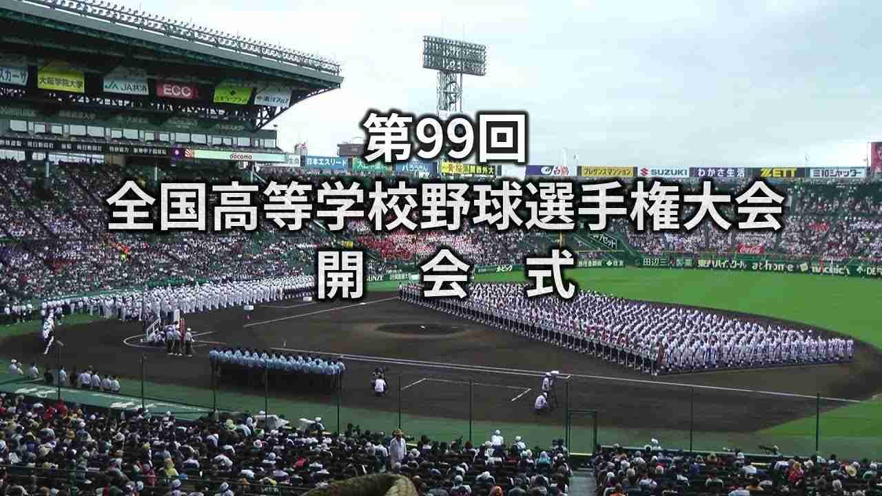 2017夏 第99回全国高校野球 開会式 全 阪神甲子園球場 The Openiong Ceremony of High School Baseball Championship - YouTube