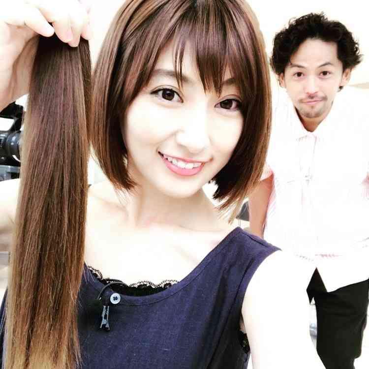 熊田曜子、髪40cmバッサリ ヘアドネーションに念願の寄付
