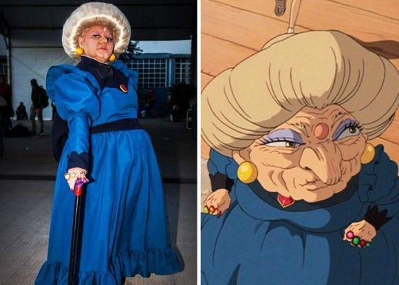 湯婆婆、ソフィー・ハッターなどなど、年相応のコスプレを楽しんだ結果、大人気となったコスプレおばあちゃん