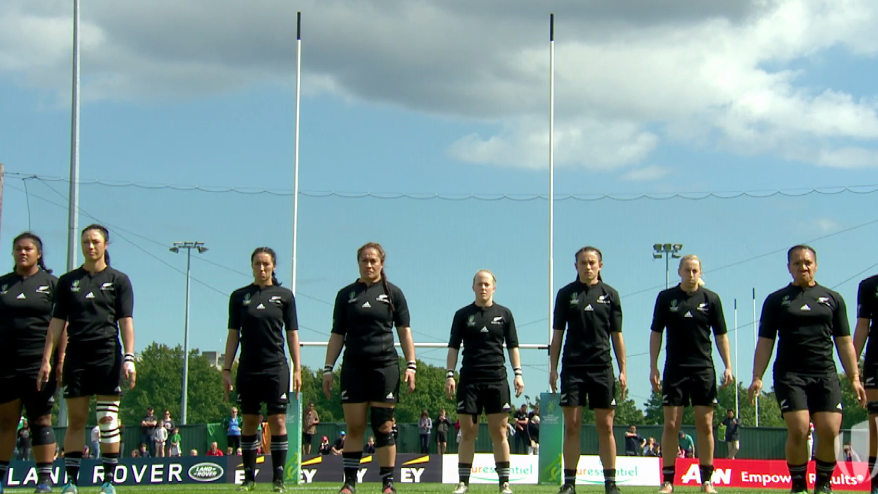 RE:LIVE: New Zealand's first Haka at Women's Rugby World Cup 2017