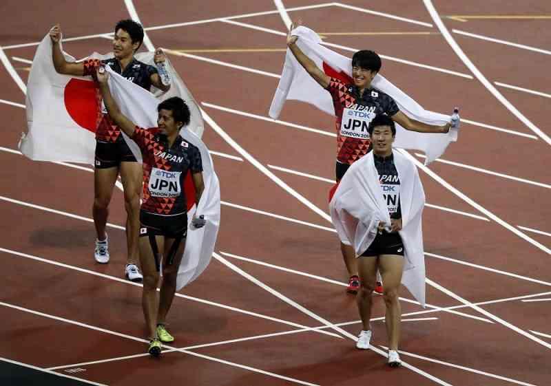 【世界陸上】日本銅!今大会初のメダル 男子400リレー