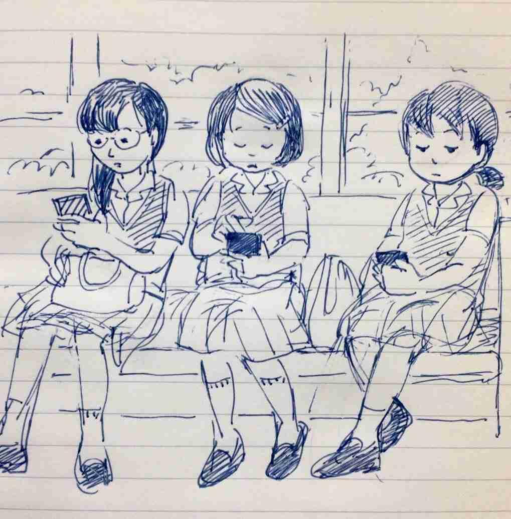 スマホを持たない女子高生が触っていたものは? 「切なくて泣きそうになった」「数年前までやっていた」と共感集まる