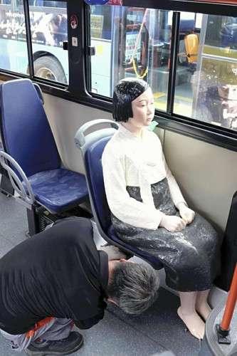 座席に「少女像」置いた路線バス、ソウルで運行 : 国際 : 読売新聞(YOMIURI ONLINE)