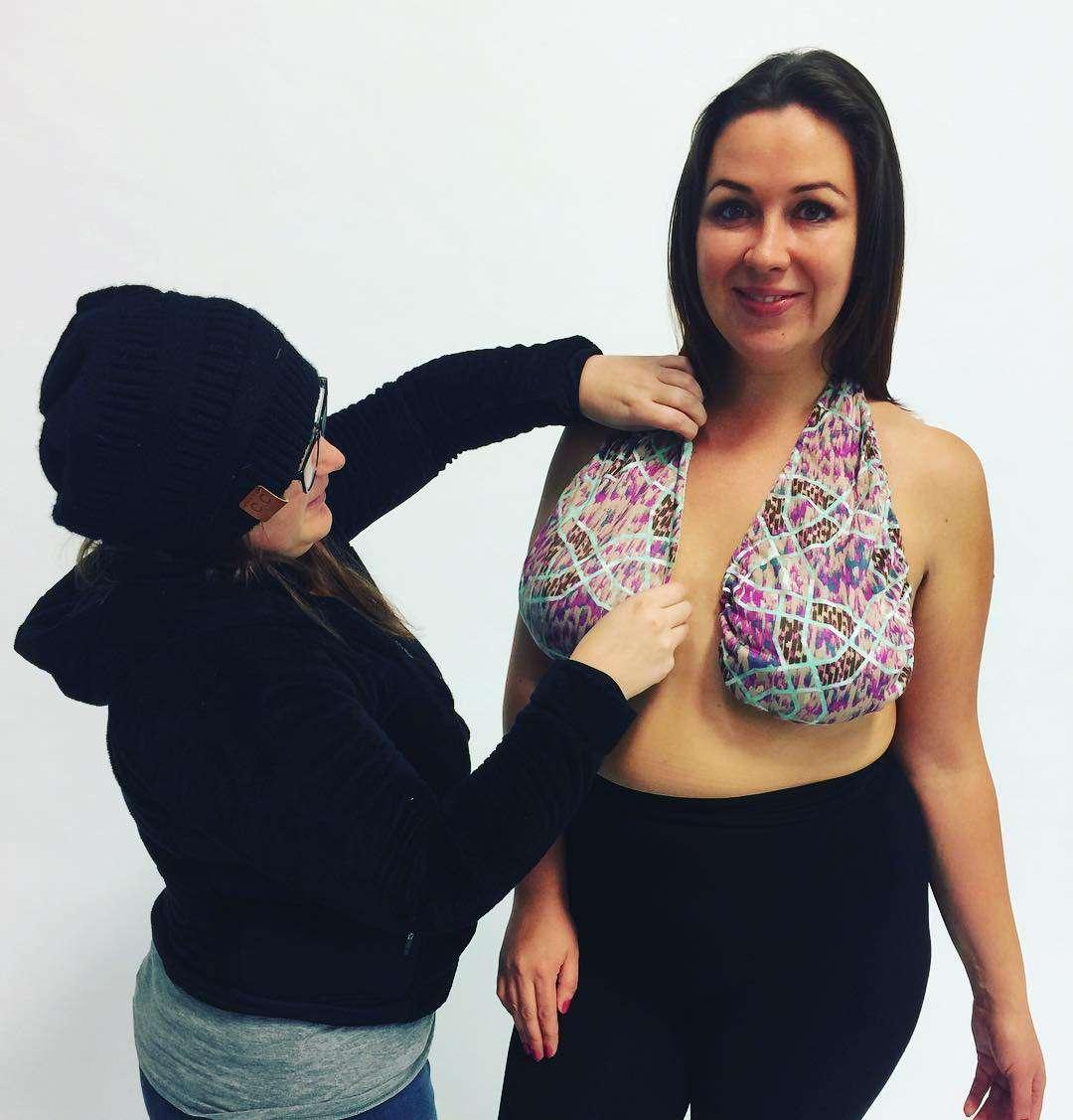 大きめバストの女性たちの夏の悩みを解消する「タオルブラ」が斬新