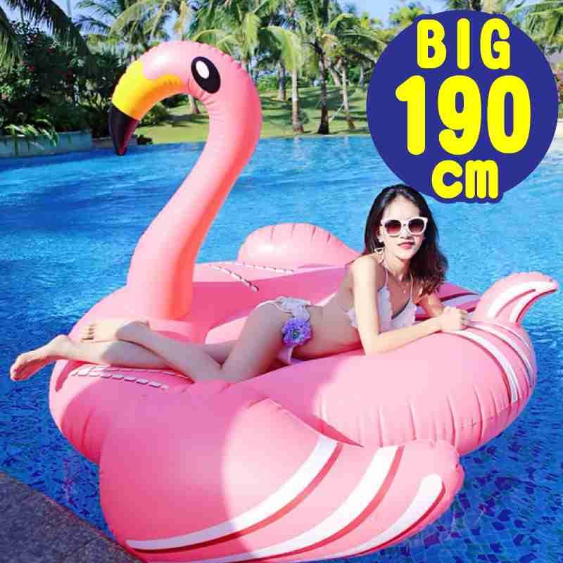 【楽天市場】フラミンゴ flamingo 浮き輪 プール 浮輪 うきわ 子供 大人 夏 海 フロート 190cm x 190cm x 120cm ボート ビッグサイズ ラウンジ フロート 大型 instagram Pool Float 2017年 インスタ:ファンクスストア