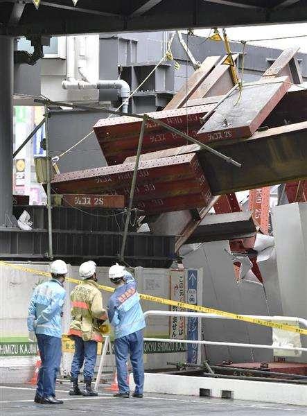 あわや…渋谷駅東口で15トンの鉄骨落下 再開発工事エリア、けが人なし - 産経ニュース