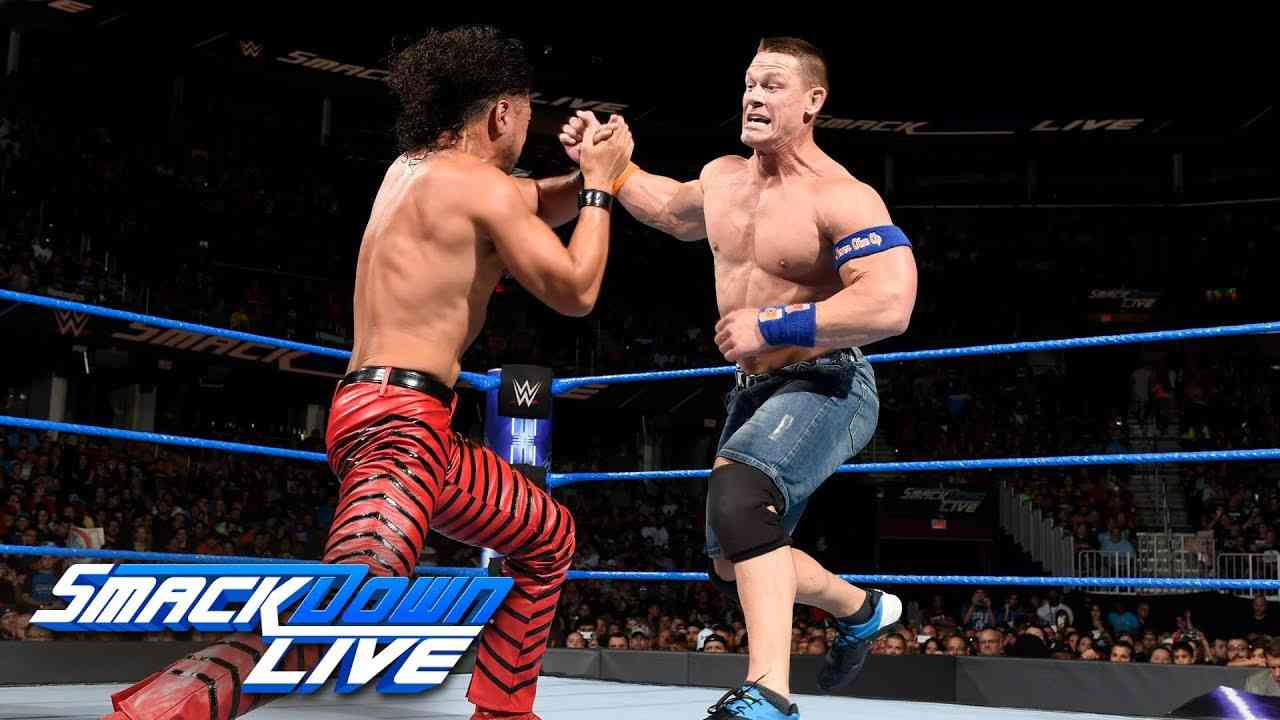 John Cena vs. Shinsuke Nakamura: SmackDown LIVE, Aug. 1, 2017 - YouTube