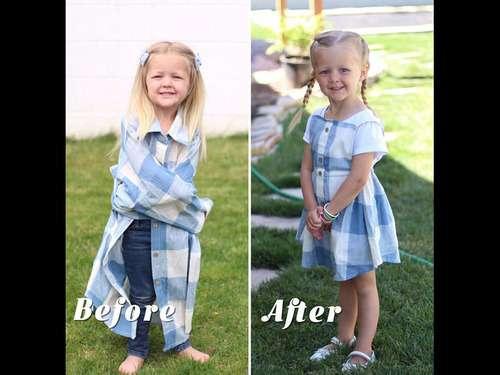 いらなくなったパパの古着を娘のドレスに大変身…ビフォー&アフター写真いろいろ:らばQ