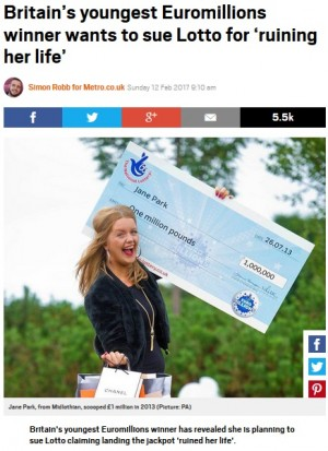 17歳で宝くじに高額当選した女性 「人生台無しにされた」発言で猛批判の嵐