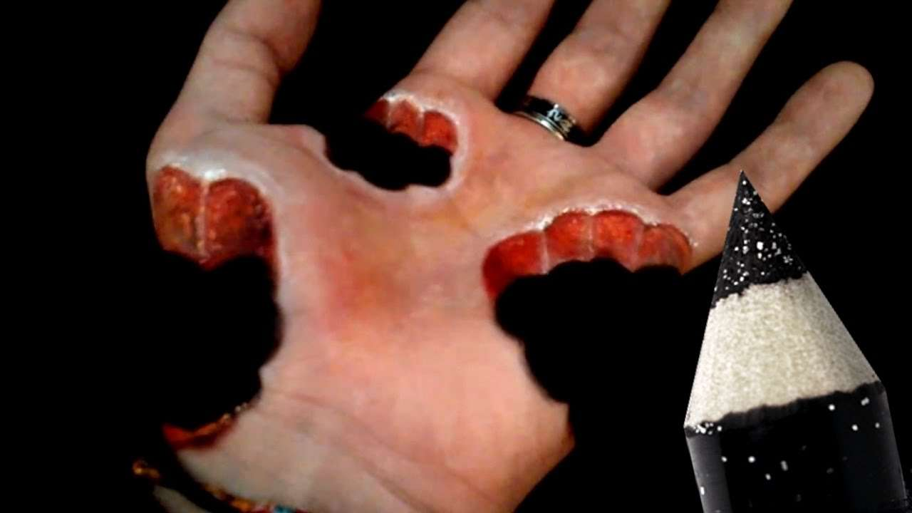 10 Cool illusions - Hand Art Makeup [Compilation] - YouTube