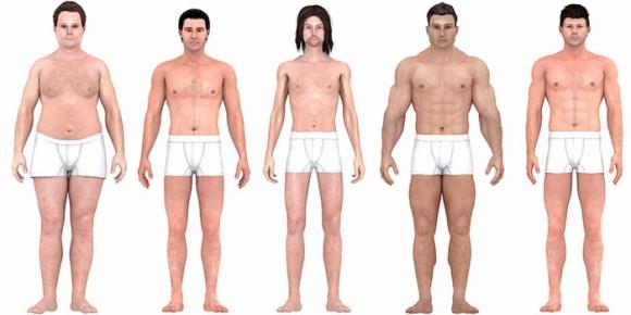 男性の理想体型は時代とともに変化していた。1870年代から現代までの理想体型を比較してみると?