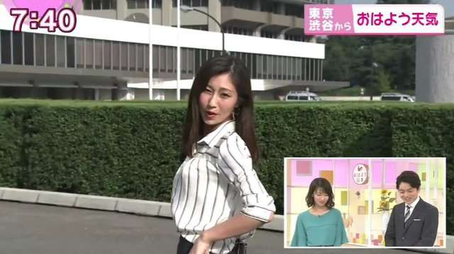 NHKお天気お姉さん、突然「ブルゾンちえみ」に変身も...スタジオ「スルー」で微妙な空気に