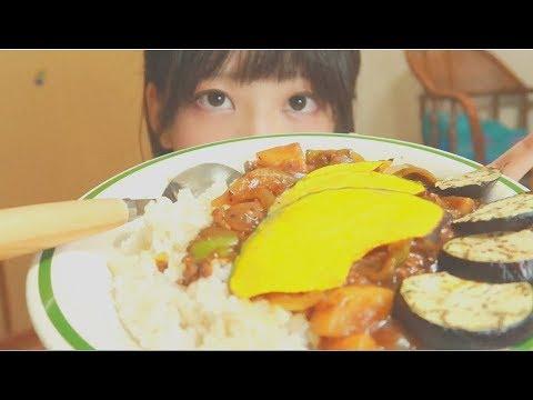 夏野菜カレー作って食べた - YouTube