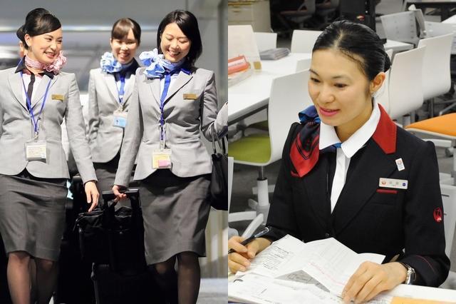航空会社のCA、日本は女性ばかり 専門家「ここまで男性なしは異常」