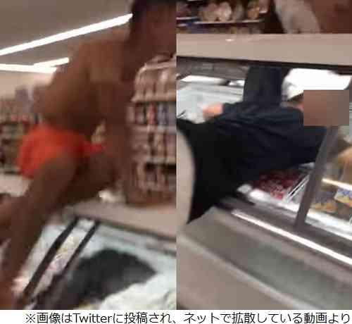 コンビニのアイス用冷蔵庫に入るバカッター再び   Narinari.com