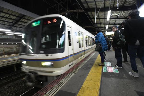 ホームから女性突き落とす→電車で逃走 殺人未遂容疑で捜査 大阪府警浪速署