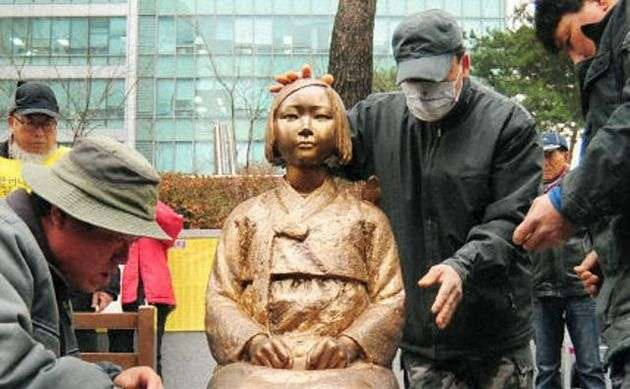 少女像レプリカ、ソウルの路線バスに 市が設置認める