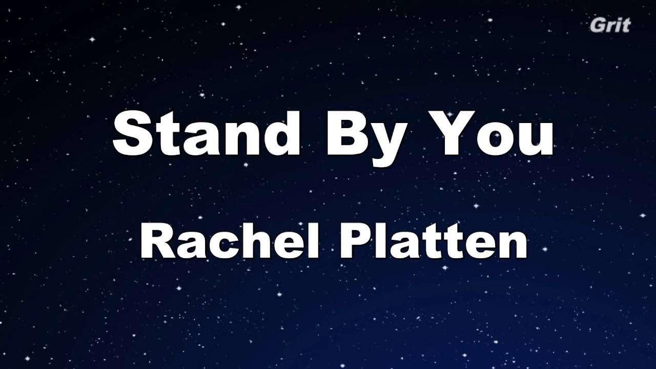 Stand By You - Rachel Platten Karaoke【Guide Melody】 - YouTube