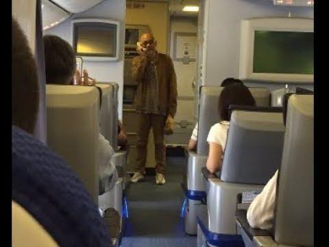 【 松山千春・神対応 動画 】  飛行機内で歌「大空と大地の中で」を熱唱の瞬間!~その後のラジオ放送まで まとめ - YouTube