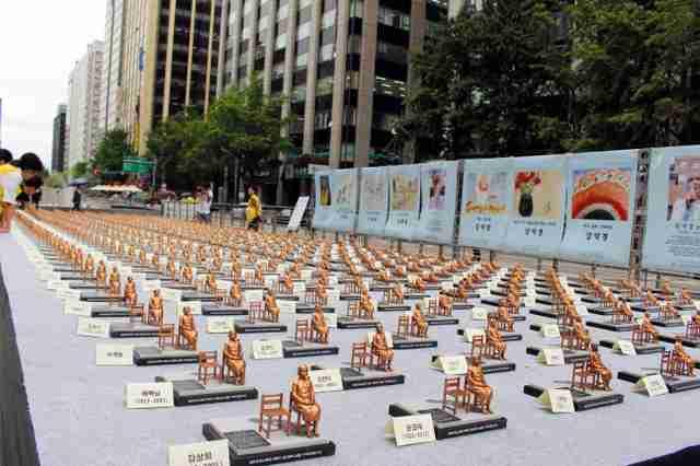 ソウルに500人分のミニ少女像 「世界慰安婦の日」で