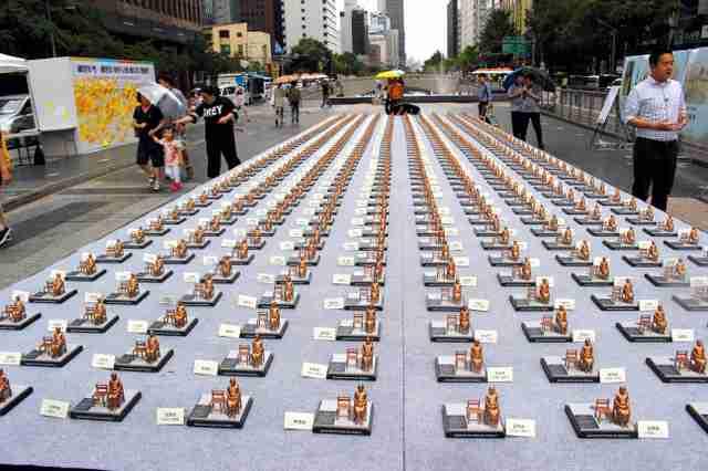 ソウルに500人分のミニ少女像 「世界慰安婦の日」で:朝日新聞デジタル