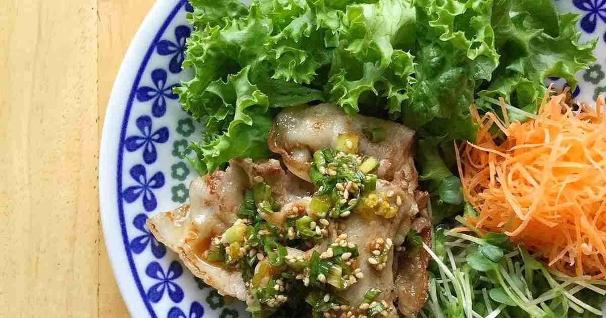 豚バラに、甘酢ネギ胡麻だれ。 by ラビー [クックパッド] 簡単おいしいみんなのレシピが273万品