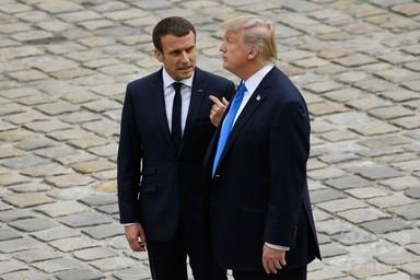 米仏首脳が北朝鮮問題で電話会談、トランプ氏 改めて「軍事的措置」警告 写真1枚 国際ニュース:AFPBB News