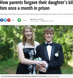 娘の命を奪った男を許し、刑務所で面会し続ける両親(米)